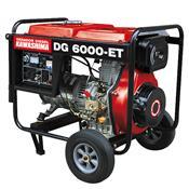 Gerador De Energia À Diesel Trifásico 5000W 220V Dg-6000Et Kawashima