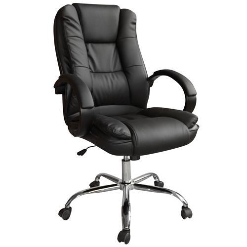 Cadeira Presidente Milão Relax Couro Preta Tl-Cde-09-1 Trevalla