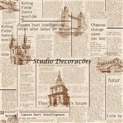 Papel De Parede New Vintage 10M Vinílico Tl-Jbl-70401 Trevalla