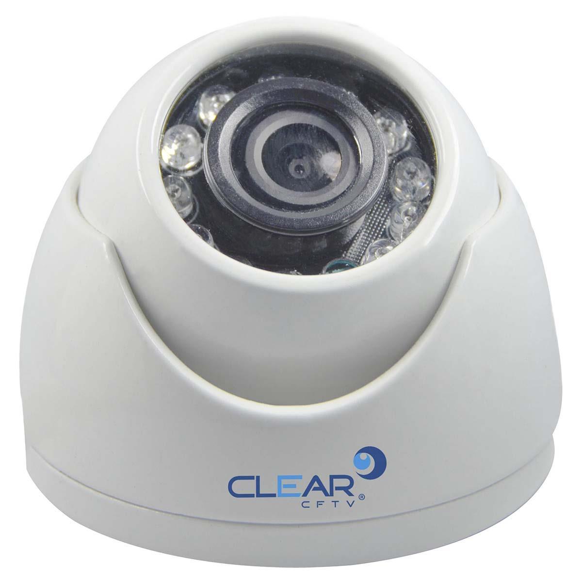 Câmera Ahd Mini Dome Ir 15M 2.8Mm 720P Metal Branca Ahd - 12L Clear