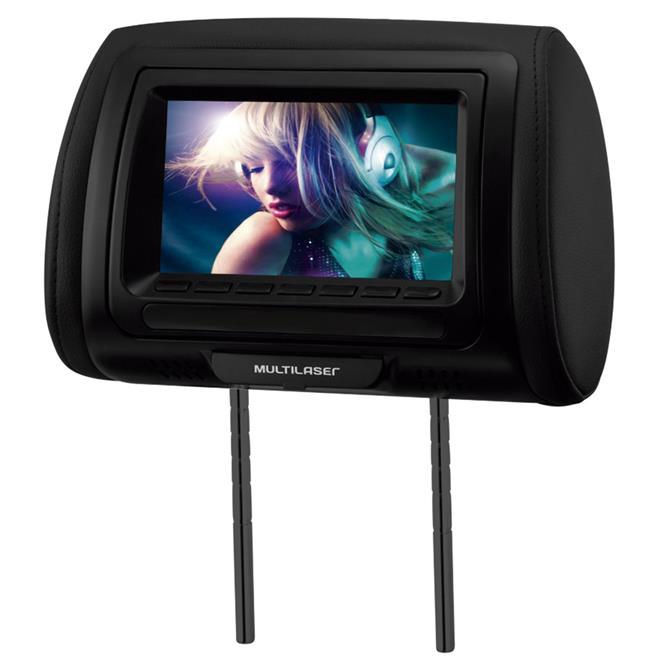 Encosto De Cabeça Com Dvd Player Tela 7 Pol Preto Multilaser