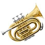 Trompete Pocket Bb Laqueado Hmt-500L Harmonics