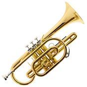 Trompete Cornet Bb Laqueado Hcr-900L Harmonics