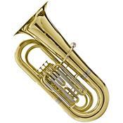 Tuba Bb 4/4 4 Pistões Laqueada Hbb-534L Harmonics