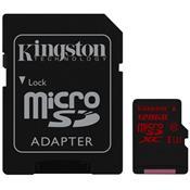Cartão De Memória Sdca3/128Gb Sdxc 128Gb Uhs-I U3 Kingston