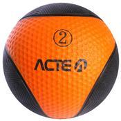 Bola Medicine Ball 2 Kg Em Borracha T102 Acte