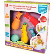 Mordedor Boliche Para Bebê Três Porquinhos Alpha Brinquedos
