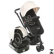 Carrinho De Bebê Mobi Ts Plain Bebê Conforto Beige Safety 1St