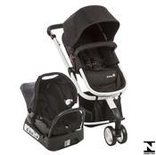 Carrinho De Bebê Mobi Ts Full Black E White Safety 1St