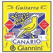 Encordoamento Para Guitarra Canário Aço 010 Gesgt10 Giannini