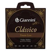 Encordoamento Para Violão Clássico Nylon Leve Genwpl Giannini