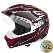 Capacete Top Helmet Vision Th1 Branco E Vermelho Pro Tork