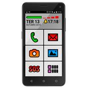Smartphone Sênior Quad Core 5 Pol 16Gb Android 5 2 Chip Ms50 Multilaser