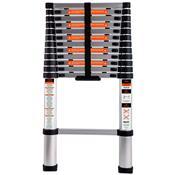 Escada Telescópica 8 Degraus 150Kg Em Alumínio 228100 Belfix