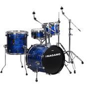 Bateria Acústica Concert Gig 18 Pol Brooklin Blue Nagano