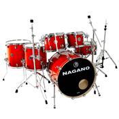 Bateria Acústica Concert Full Lacquer Er Smoke Red Nagano
