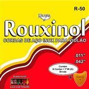 Encordoamento Para Violão Aço Com Chenilha R50 Rouxinol