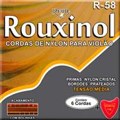 Encordoamento Para Violão Nylon Com Bolinha R58 Rouxinol Nig