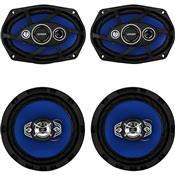 "Kit Alto Falante Quadriaxial 6X9""+6"" 55W Rms 4Ohms Orion"