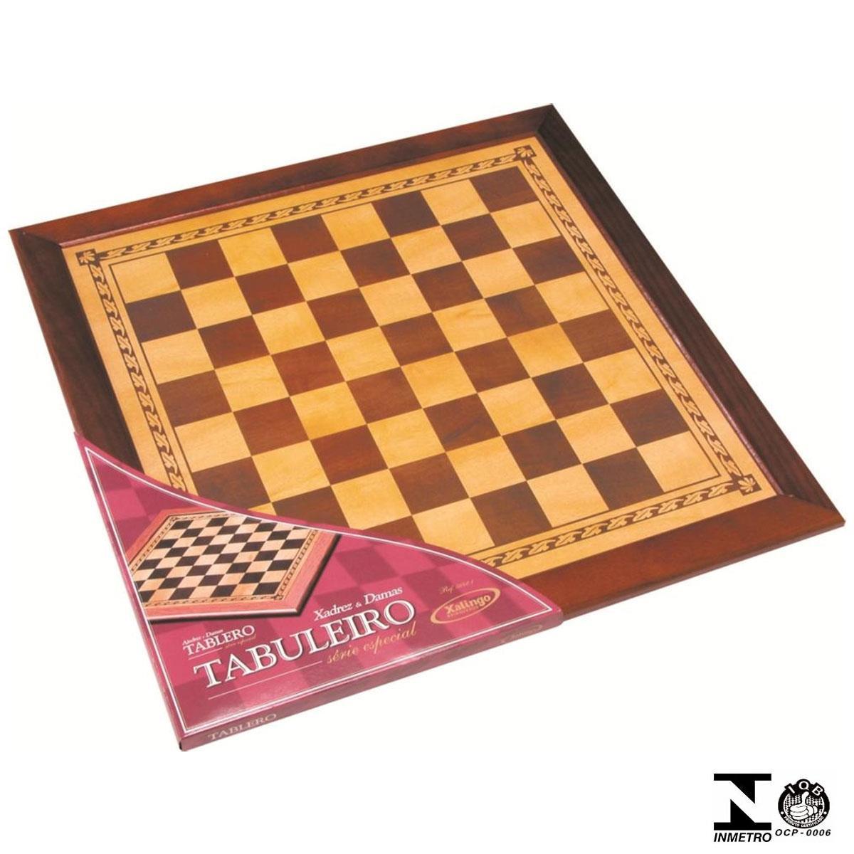 Tabuleiro Para Xadrez E Damas Série Especial 56421 Xalingo