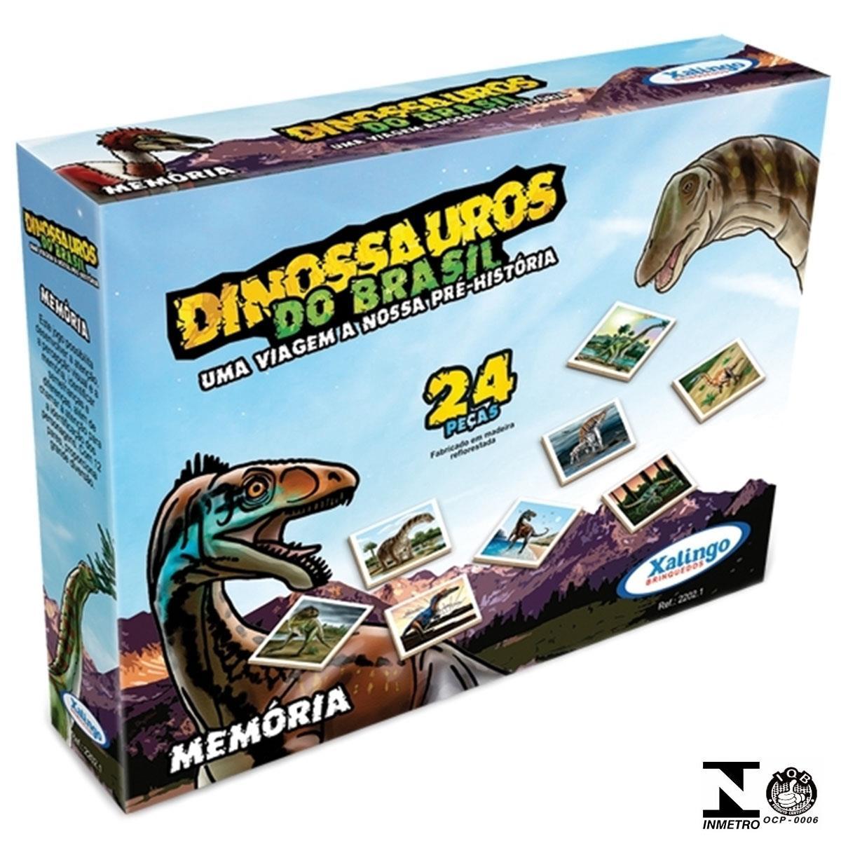 Memória Dinossauro Do Brasil Em Madeira 2202.1 Xalingo