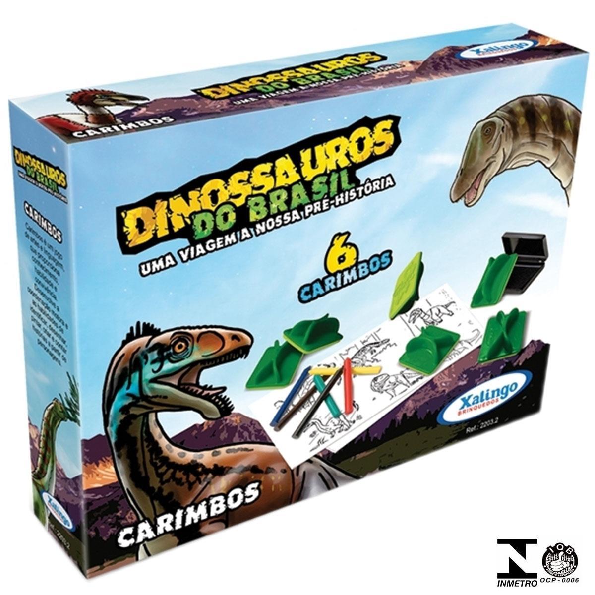 Carimbos Dinossauros Do Brasil Com 6 Peças 2203.2 Xalingo
