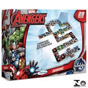 Jogo Dominó De Madeira 28 Peças Avengers 15010 Xalingo