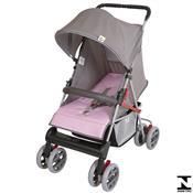 Carrinho De Bebê Tithus Cinza E Rosa 03600.28 Tutti Baby