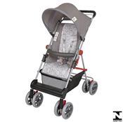 Carrinho De Bebê Damiano Cinza Estrela 03400.37 Tutti Baby