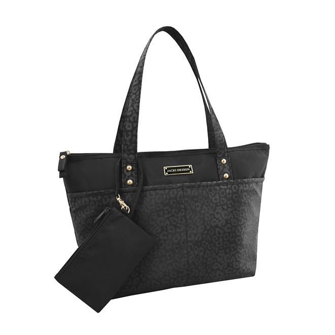 Bolsa Feminina Casual : Bolsa feminina casual com niqueleira preta jacki design