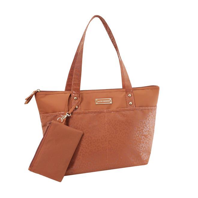 Bolsa Feminina Casual : Bolsa feminina casual com niqueleira caramelo jacki design