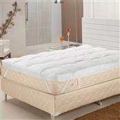 Pillow Top Casal Fibras Siliconizadas 233 Fios Branco Plumasul