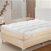 Pillow Top Queen Fibras Siliconizadas 233 Fios Branco Plumasul