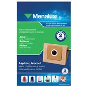 3 Sacos Descartáveis 1.7L Menalux Para Aspirador Sim02 Electrolux