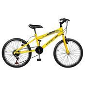 Bicicleta Masculina Plus 7 Marchas Aro 20 Amarela Ciclone Master Bike