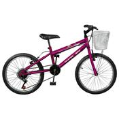 Bicicleta Feminina 7 Marchas Aro 20 Violeta Serena Plus Master Bike