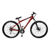 Bicicleta Masculina Ciclone Plus 21 Marchas Aro 29 Vermelha Master Bike