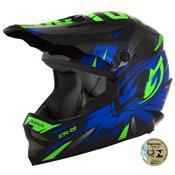 Capacete Infantil Motocross Ck-01 Preto E Azul Pro Tork