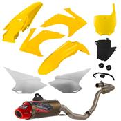 Escapamento 788 Powercore 2 Para Crf 230 Amarelo Pro Tork