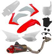 Escapamento 788 Powercore 2 Para Crf 230 Vermelho E Branco Pro Tork