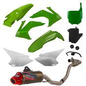 Escapamento 788 Powercore 2 Para Crf 230 Verde Pro Tork