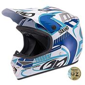 Capacete De Motocross Squad Azul Pro Tork