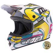 Capacete De Motocross Squad Branco Pro Tork