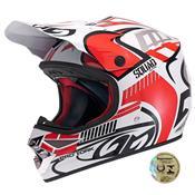 Capacete De Motocross Squad Vermelho Pro Tork
