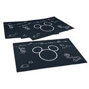 Jogo Americano Mickey E Minnie Chef 4 Peças Preta 3705901 Lepper