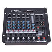 Mesa De Som Starmix Bluetooth 6 Canais 17.5W S602rbt Ll Áudio