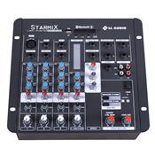 Mesa De Som Starmix Bluetooth Com Efeito 12.5W 4 Canais Ll Áudio