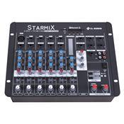 Mesa De Som Starmix Bluetooth Com Efeito 15.5W 6 Canais Ll Áudio