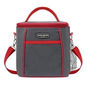 Bolsa Térmica Necesaire Grande Vermelha Urbano Com Bolso Jacki Design