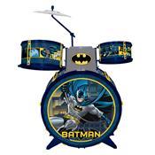 Bateria Infantil Batman Cavaleiro Das Trevas Com Banquinho 8080-4 Fun